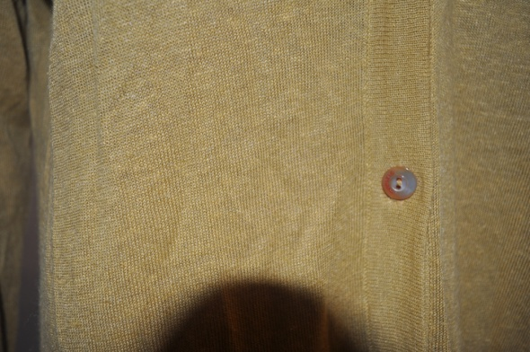 Maxmara musztardowy sweter kardigan Hemp Silk XL...