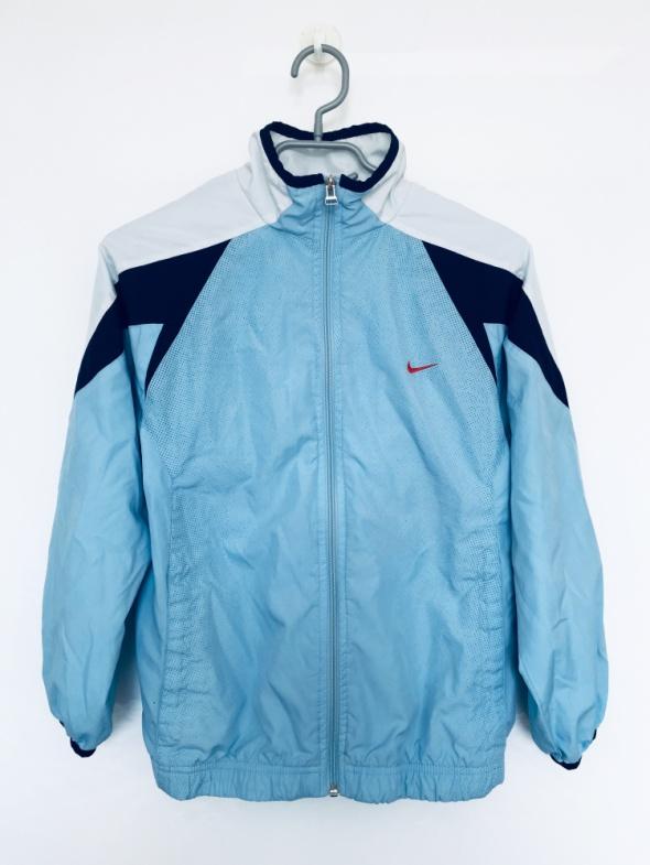 Sportowa kurtka bluza Nike XS S błękitna wiatrówka z kieszeniam...