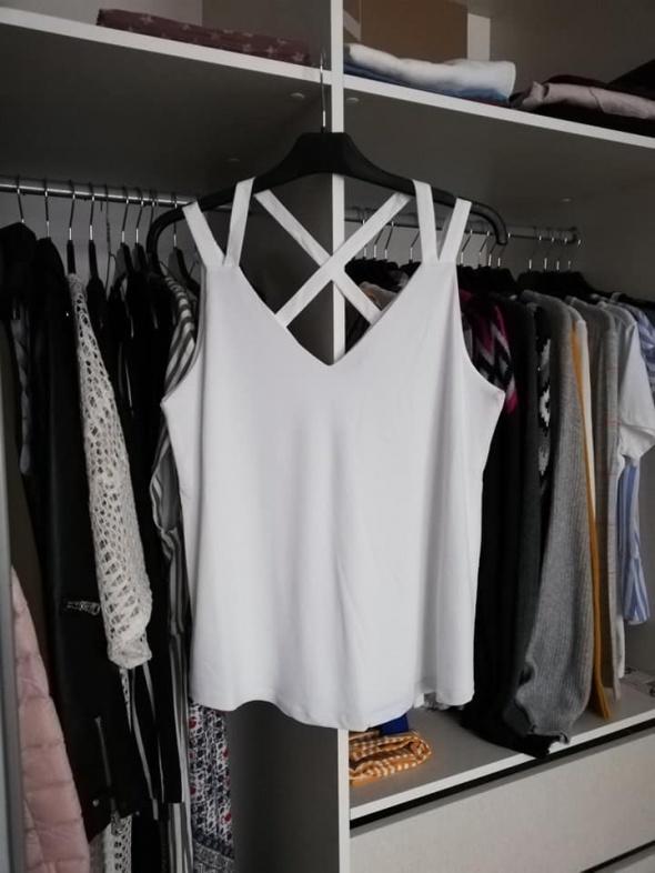ESPRIT nowy biały top z podwójnymi ramiączkami lato 2019