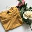 Żółty sweterek klasyczny S bawełna dobra jakość