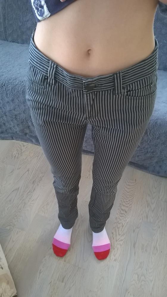 spodnie w paski H&M