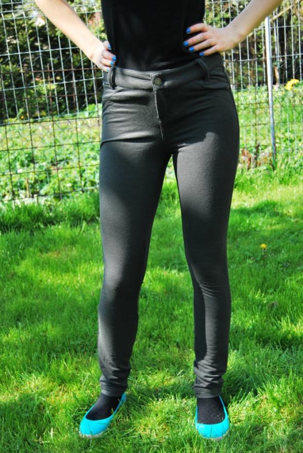 spodnie rozciągliwe legginsy khaki