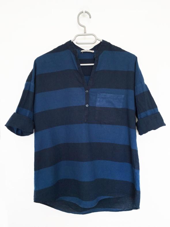 Świetna bluzka koszulowa Pull&Bear denim style w paski universalna i ponadczasowa