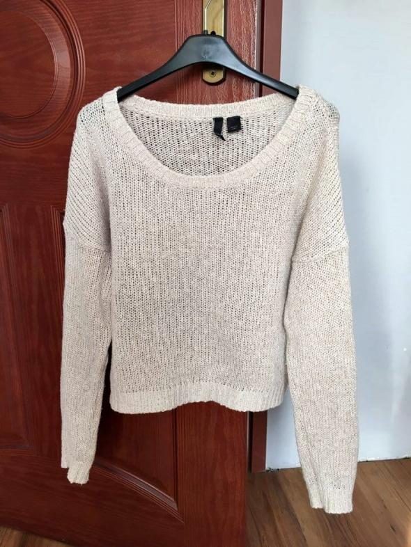 Sweter beżowy krótki oversize