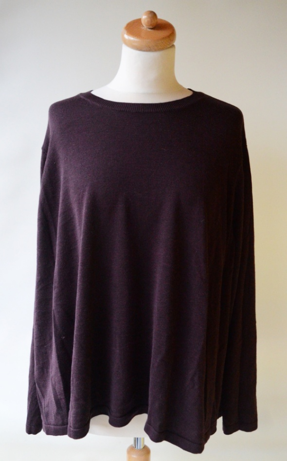 Sweter Śliwkowy Oversize H&M 3XL 46 XXXL Luźny...