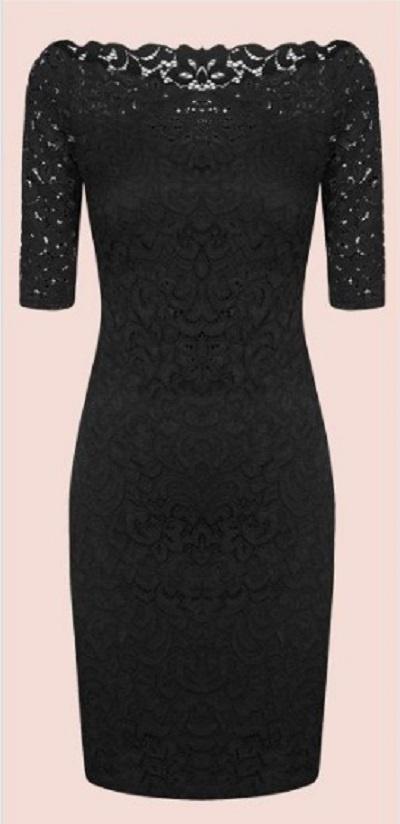 Koronkowa mała czarna sukienka tuba Orsay 38 NOWA