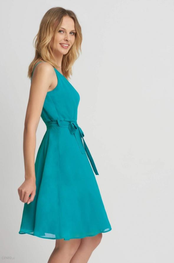 Turkusowa zwiewna sukienka Orsay 38
