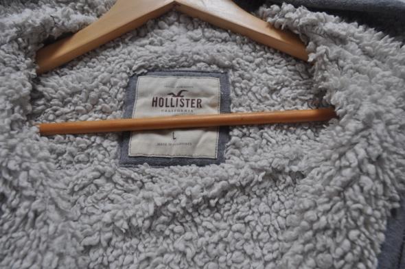 Hollister ciepła szara bluza na misiu hoodie 40 L