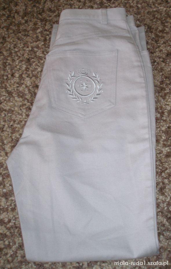 szare spodnie jak nowe 34 36