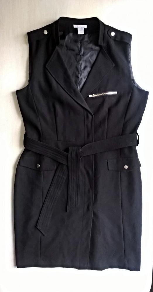 Czarna elegancka sukienka 44 46
