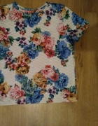 bluzka pikowana w kwiaty...