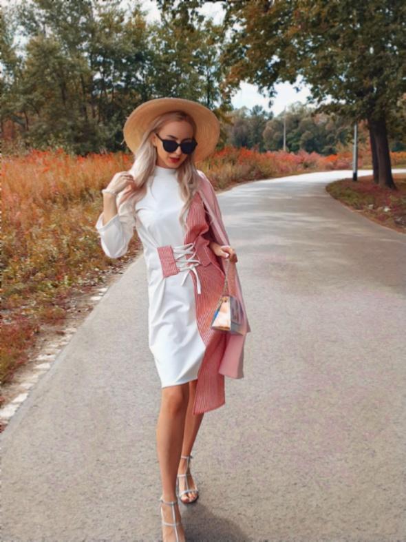 Eleganckie Sukienka asymetryczna Biznes Lady