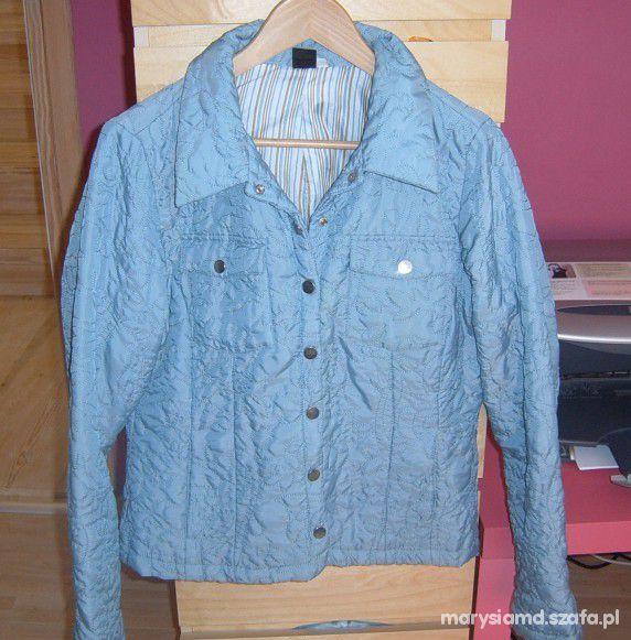 Laura Stein pikowana błękitna kurtka