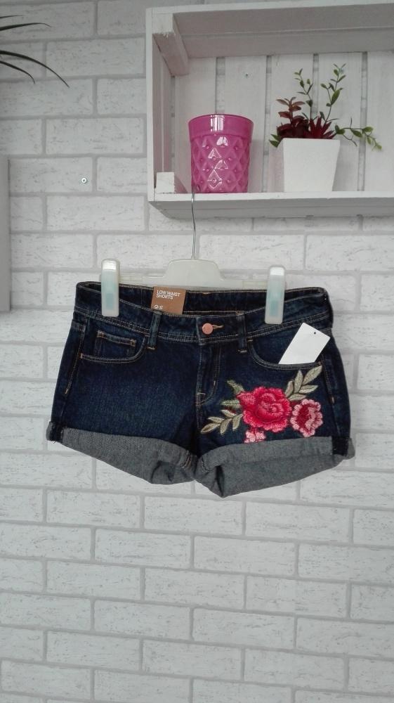 Hm szorty ciemny jeans...