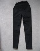 spodnie ciążowe rurki jeans GEORGE XS S czarne...