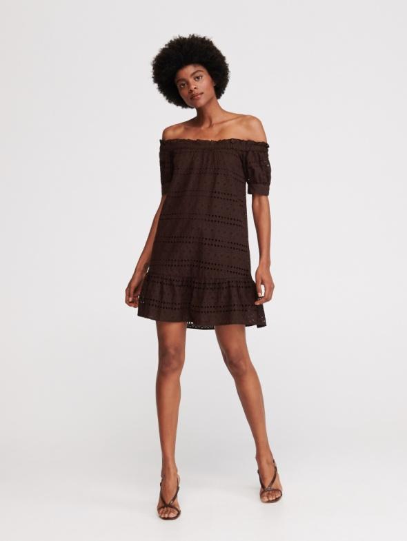 Sukienka z haftem Reserved hiszpanka rozmiar XS