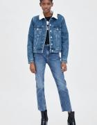 Nowa kurtka jeansowa z kożuszkiem Zara ocieplana jeans rozmiar ...