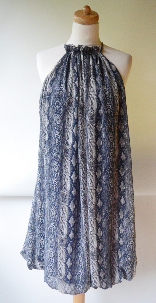 Sukienka XL 42 B Young Skóra Węża Wzór Elegancka