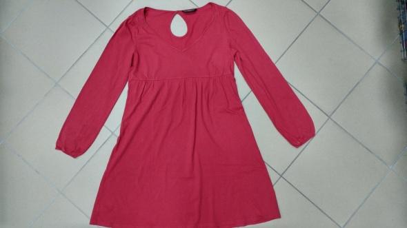 Tunika sukienka czerwona ceglasta FF L
