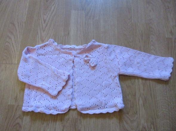 Sweterek bolerko ażurwe dla pulchnej dziewczynki