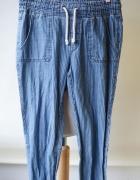 Spodnie Jeans Gumki H&M S 36 Paski Dzinsowe...