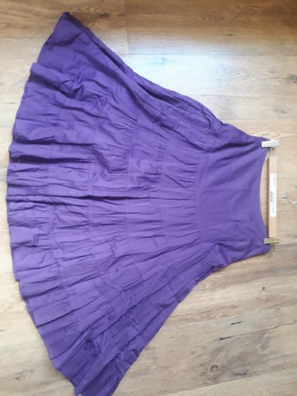 Spódnice Spódnica fioletowa maxi falbany