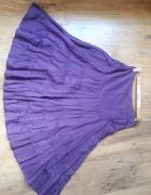Spódnica fioletowa maxi falbany...