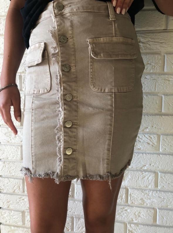 Spódnice Spódniczka z guzikami elastyczna