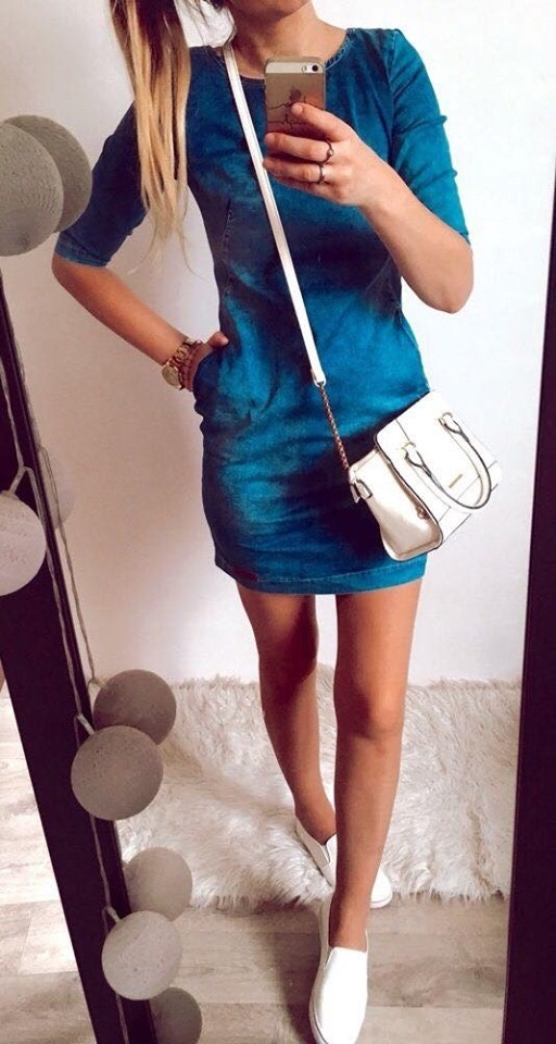 Sukienka Damska jeansowa M