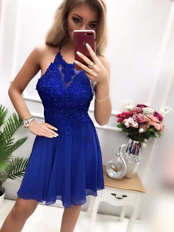 Chabrowa elegancka sukienka
