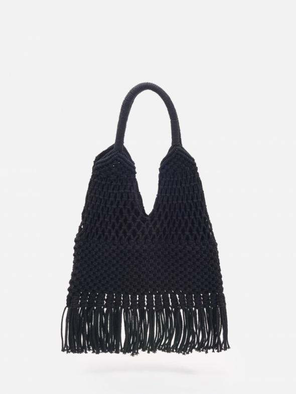 Czarna pleciona torebka Reserved...