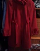 płaszcz czerwony zara
