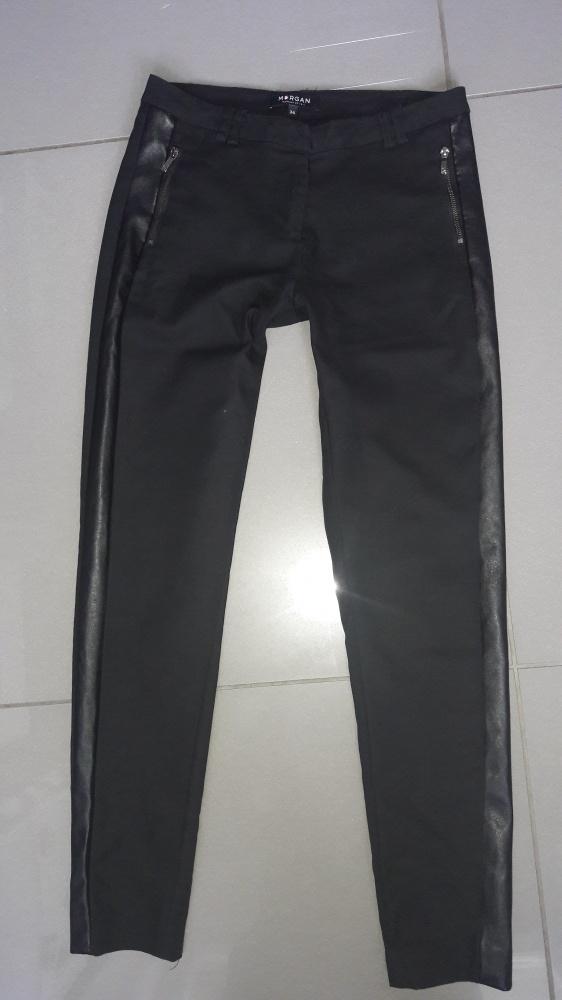 Czarne spodnie z paskiem z boku Morgan xs