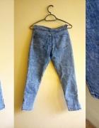 spodnie marmurki z zamkami...
