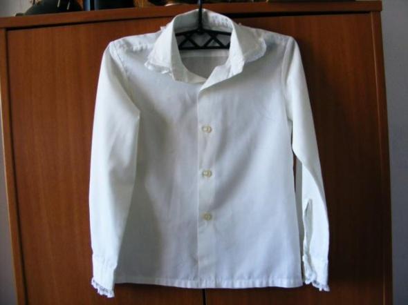 Biała bluzka koszulowa dziewczęca