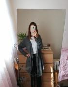 Szary długi kardigan z kieszeniami Vero Moda rozmiar L oversize...