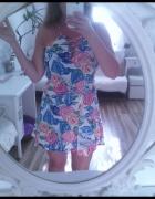 Sukienka tropic kwiaty...