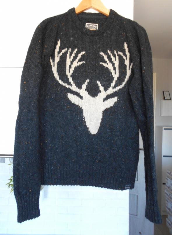 Fat Face wełniany sweter print wełna...