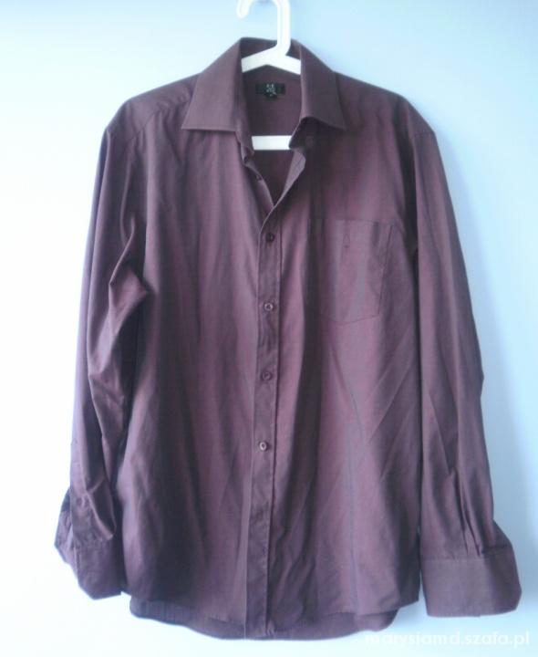 FF męska koszula fioletowa śliwkowa