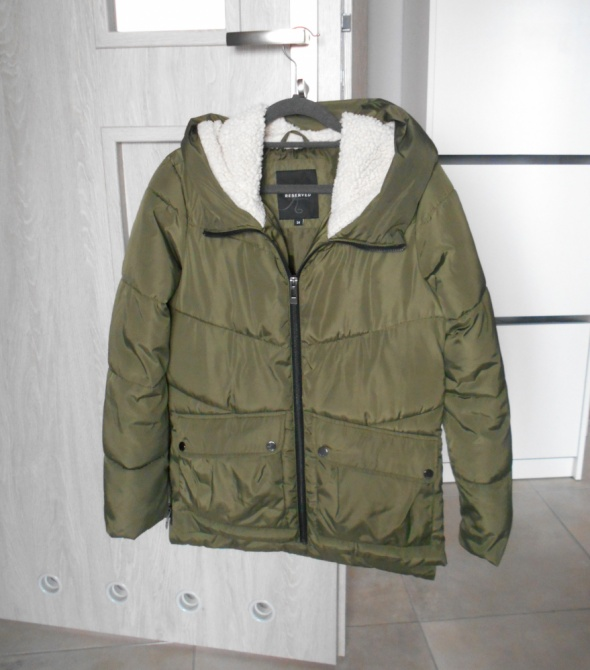 Reserved kurtka zimowa parka khaki zielona ciepła