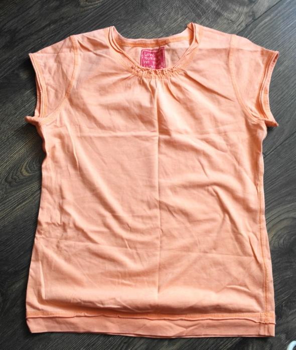 Bluzeczka jasny pomarańcz 140 146
