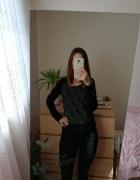 Czarna bluza w pioruny Cropp rozmiar s jak Harry Potter...
