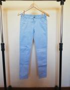 Niebieskie spodnie rurki C&A 164 rozmiar s...