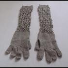 Jesienno zimowy zestaw rękawiczki 2 kominy nauszniki