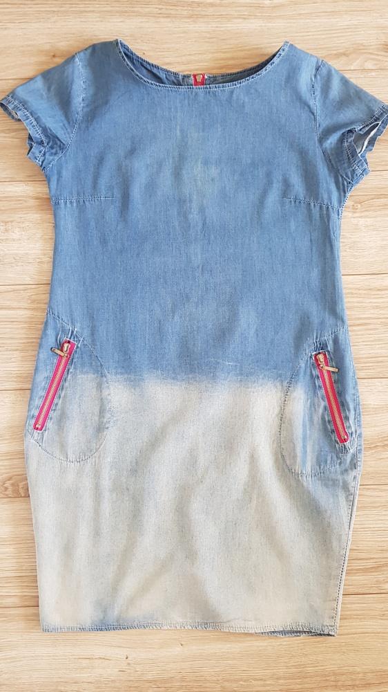 Sukienka jeansowa cieniowana...