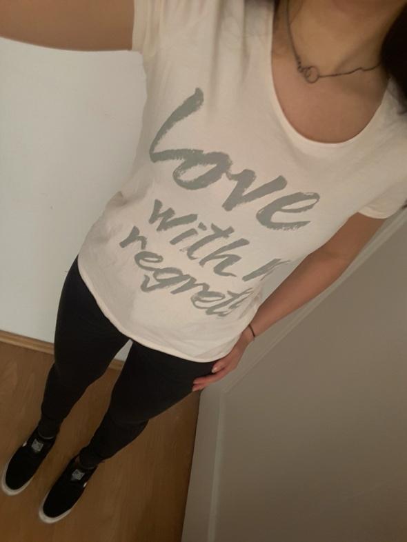 Koszulka z napisem Esprit tshirt krótki rękaw love