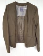 Zielona khaki marynarka Atmosphere Primark 42 XL blazer militar...