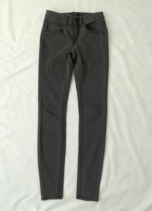 Vila szare jeansy rurki S...