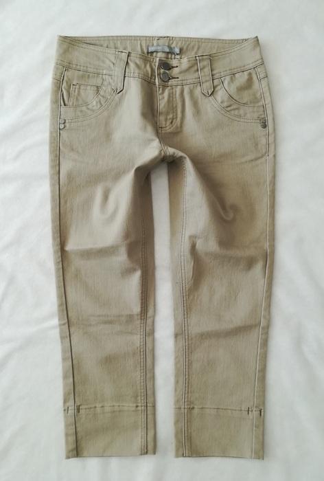 KappAhl beżowe spodnie rybaczki M...