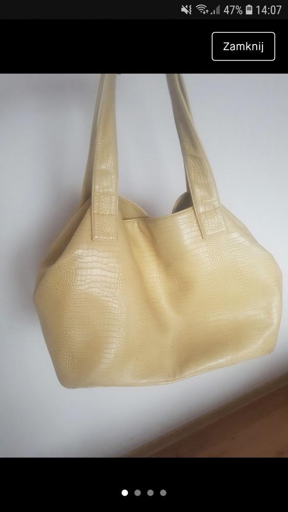 Shopper bag duża beżowa Reserved...